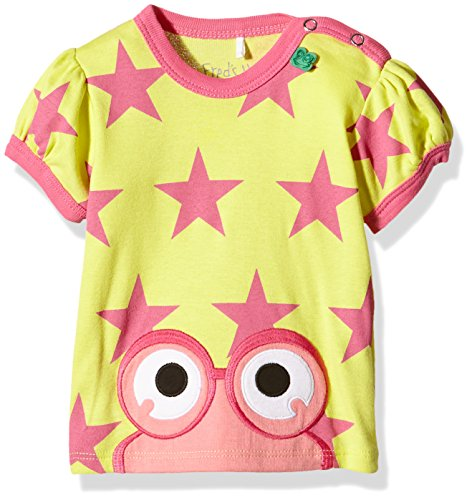 Fred'S World By Green Cotton Star Peep T Girl Baby T-Shirt, Jaune-Gelb (Yellow 012064201), 24 Mois Bébé Fille