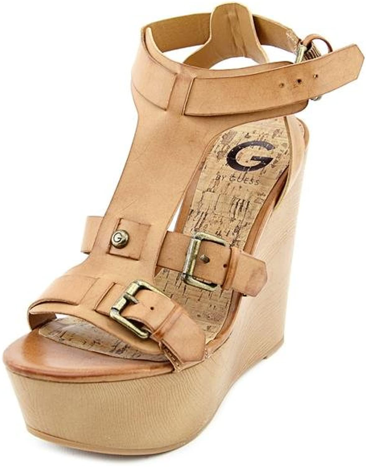 G by GUESS Women's Tazzy Platform Wedge Sandals Natural 8.5M