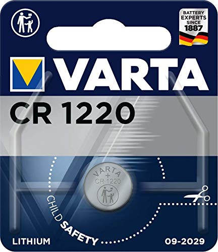 Varta Batterien Electronics CR1220 Lithium Knopfzelle 1er Pack Knopfzellen in Original 1er Blisterverpackung