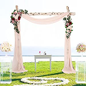 Silk Flower Arrangements Artificial Wedding Arch Flowers Kit, Wedding Arch Draping Fabric Wedding Flowers Garlands Floral Arrangement Swag for Ceremony and Reception Backdrop Decoration (Dusty Rose & Blush Pink & Burgundy )