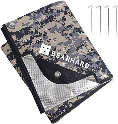 Camping Thermal Waterproof Survival Space Blanket for Hiking Emergency Tarp Insulated Blanket Bearhard Heavy Duty Emergency Blanket