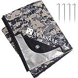 Bearhard 3.0 Heavy Duty Emergency Blanket, Emergency Tarp, Insulated Blanket, Thermal Waterproof Survival Space Blanket for Hiking, Camping, Camo
