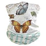 LIUBT - Máscara de protección contra el polvo para deportes al aire libre, protección de la cabeza, sol, motocicleta, vintage, retro, bufandas de mariposa, para mujeres y hombres