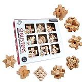3T6B Rompicapo in Legno, Giocattoli Puzzle in Legno 3D (9 Pezzi), usati per l'allenamento del Cervello, Esercizio mentale, Giochi Puzzle in Legno per Bambini e Adolescenti