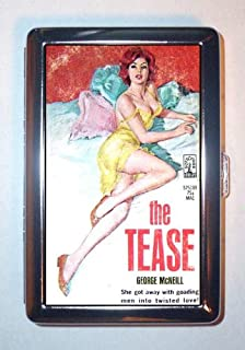 The Tease Hot Redhead Pin Up Trashy Paperback ID Wallet or Cigarette Case USA Made