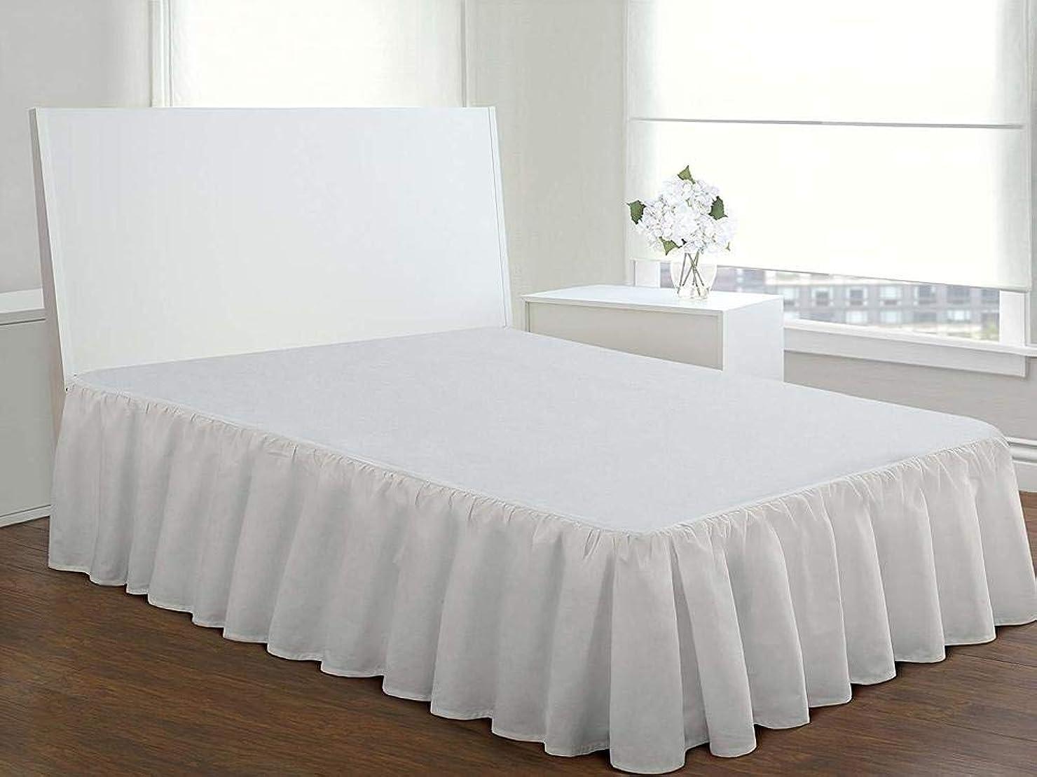 ヘビアスペクトバリケードフリル ベッド スカート,ポリエステル繊維 弾性 ほこり 耐フェード エキストラ ベッド の ホテル- 120x200*25cm