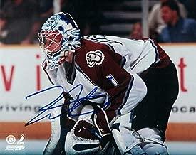 David Aebischer Autographed/Signed Colorado Avalanche 8x10 Photo
