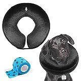 AILITRADE Collares de perro básicos inflables para perros medianos, cómodo collar de mascotas para perro cono para recuperación