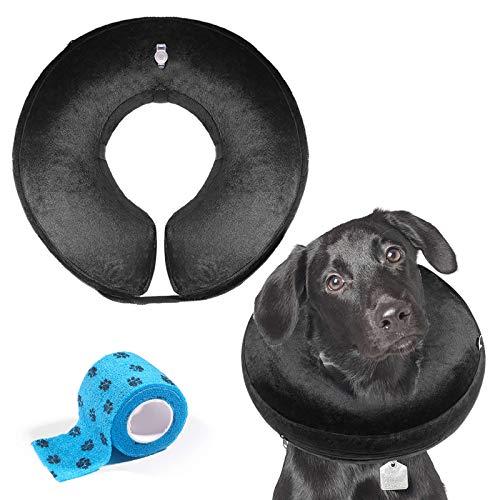 AILITRADE - Collare gonfiabile per cani, comodo collare protettivo per cani di taglia media, cono per promuovere la guarigione