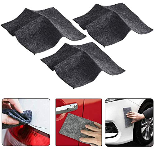 3PCS Nano Sparkle Cloth for Car Scratches, Nano Magic Repairing Scratches, Multipurpose Car Cleaning Paint, Surface Polishing, Water Spot, Rust and Scratch Remover (3Pack)