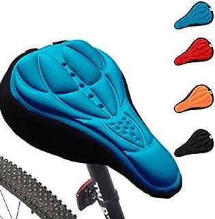 comprar comparacion Generic ciclismo 3d silicona Gel grueso suave cojín bicicleta de montaña sillín de bicicleta asiento Pad 4 colores opciona...