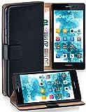 MoEx Funda Cartera [protección 360°] Compatible con Huawei Ascend P7   Cierre magnético, Noir