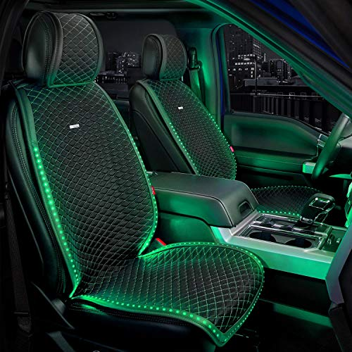 Front Seat Covers Glo Series - LED Seat Covers RGB Glow in the...