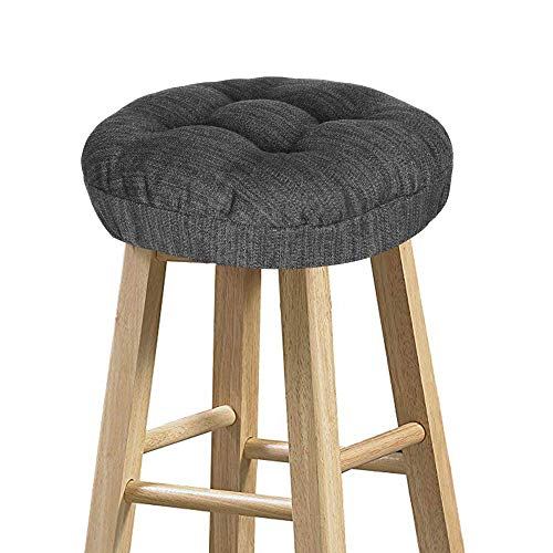 Stool Covers Round, baibu Super Soft Round Bar Stool Cushion Covers Seat Cushion - Cushion Only(Gray-Black,12