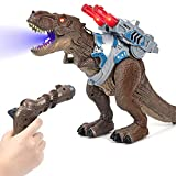 Aitere LED Light Up Remote Control Dinosaur Toys T Rex Shooting, Walking Movement, Multifunction Roaring, Spraying, Lighting, Realistic Tyrannosaurus Toys for Boys, Girls, Kids, Toddlers,3,4,5,6,7Ages