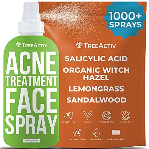 TreeActiv Acne Eliminating Face Spray | Salicylic Acid Facial Mist for...