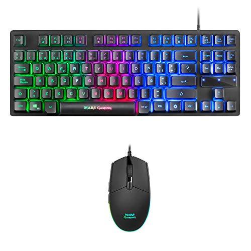 Teclado y ratón ordenador Mars Gaming MCPTKLES combo RGB