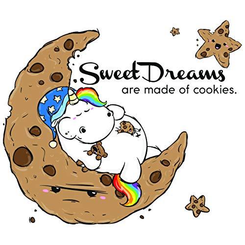 Bilderwelten Wandtattoo Pummeleinhorn Sweet Dream, Sticker Wandtattoos Wandsticker Wandbild, Größe: 60cm x 70cm