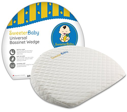Bassinet Baby Wedge Pillow for Reflux Colic and Nasal Congestion Incline Sleeper for Newborn