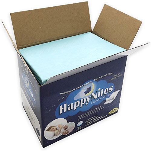 Disposable Bed Pads for Incontinence - HappyNites 1500ml...