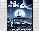 Space Mountain Poster Vintage Disney Attraction Poster