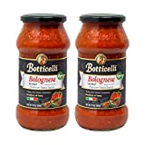 Vegan Bolognese Premium Italian Pasta Sauce by Botticelli, 24oz Jars (Pack of 2) - Product of Italy - Gluten-Free - No Added Sugar, Artificial Colors, Flavors, or Preservatives