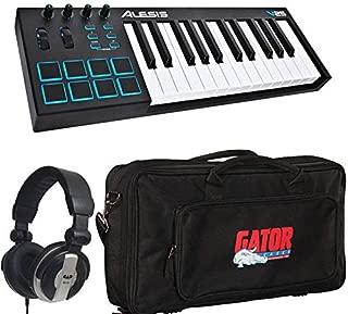 Alesis V25 25-Key USB MIDI Keyboard Controller & Drum Pad with Gator Bag & Studio Headphones