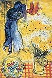 Chagall, Marc - Poster - Les Amoureux aux Marguerites +