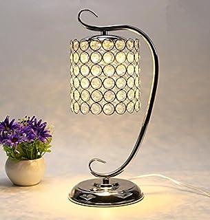 YU-K Lámpara de mesa de cristal de lámpara de mesilla dormitorio simple Sala de bodas de lujo europeo moderno escritorio a...