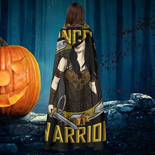 AISFGBJ Xena Princess and Warrior - Capa de Disfraz Unisex para Halloween, Bruja, Caballero, con Capucha