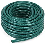 CINAGRO - Heavy Duty Braided Water Hose Pipe for Garden and Other uses 3/4 Inch(0.75 Inch) - Lenght : 5 Meters(16 Feet) with Tap Connector and 3 Clamps for Leak Free Easy Connectings