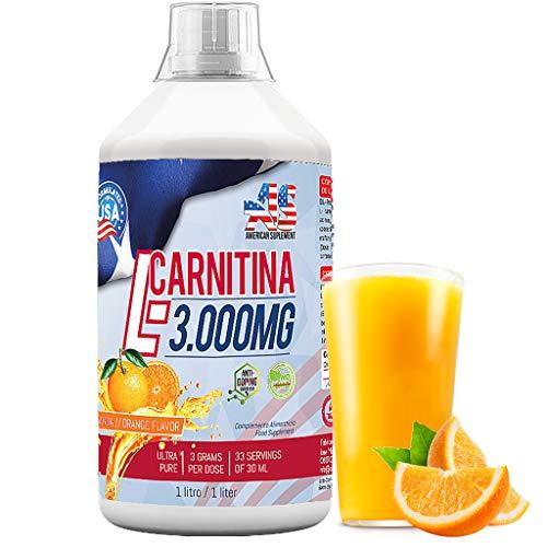 L-CARNITINA Liquida 3000mg - Quemador de Grasa - American Suplement - 1litro
