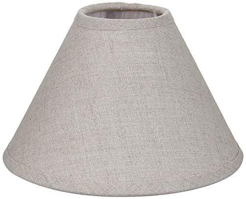 Better & Best 2053185 Lampenschirm aus Leinen, chinesische Form, 18 cm, einfarbig, Grau
