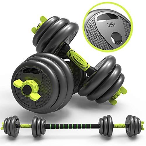 RWX Mancuernas Mancuerna Juego de Pesos, de Acero Puro Pesas, Entrenamiento del Brazo del músculo de galvanoplastia de Acero Puro Unisex Pesas Fitness Equipment 10 kg x 2 Equipo de Ejercicio físico