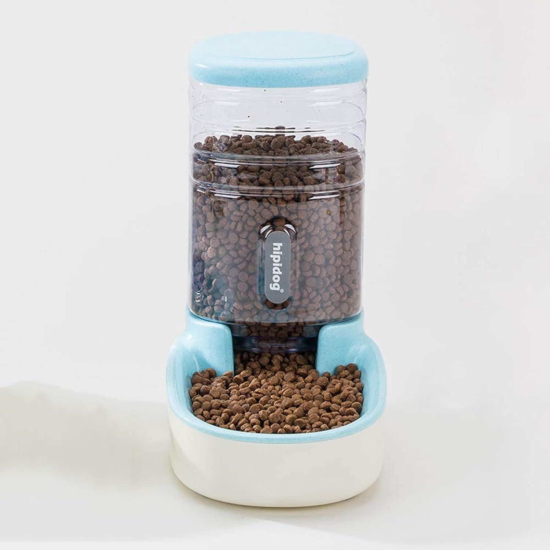 Cat Feeder Pet Food Dispenser Bowl Plastic for Cat Dog Holiday Travle 3.8 Liters (color   bluee)