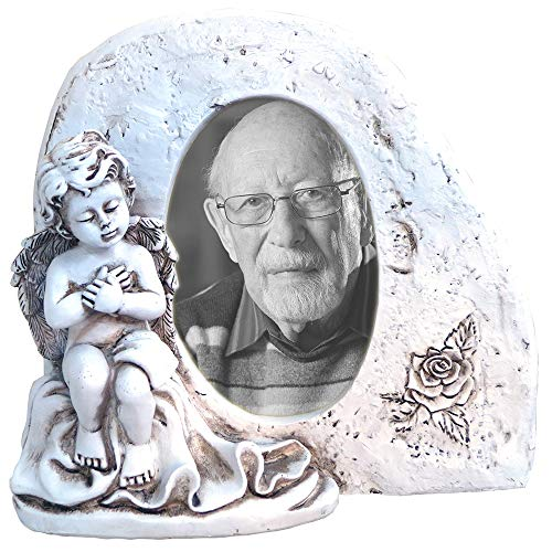 artvera Grabdekoration Engel mit Bild 10x15 cm