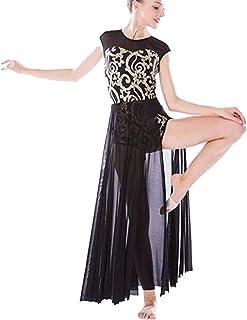 681acc3bc56d4 Freebily Enfant Fille Justaucorps de Ballet Gymnastique Danse Classique  Tutu Robe de Latine Gym Sequins Princesse