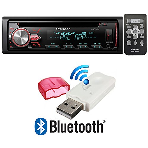Pioneer DEH-X2900UI Single DIN in-Dash CD/AM/FM Car Stereo Receiver w/Variable Color Illumination + USB Bluetooth Music Streaming Wireless Receiver (NOT for Receiving OR Making Calls)