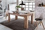 Beauty.Scouts Esstisch II 'Frieso', Esszimmertisch, Küchentisch, Tisch, Esszimmer, Küche, Wohnzimmer, ausziehbar, verlängerbar, hochwertig, Nussbaum Satin, 160-200x70x90cm