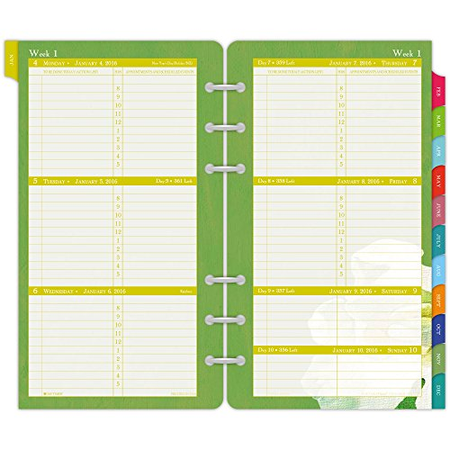 DayTimer Flavia Weekly Portable-Size Refill 2016, 3.75 x 6.75 Inches Page Size (096361601)