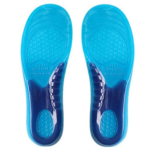 Bringsine Massaging Insoles - Best Shoe Inserts for Running, Hiking and More - Shoe Insoles for Men & Women, Extra Protect Gel Foot Cushion - Advanced Design Gel Insoles Absorb Shock 1 Pair
