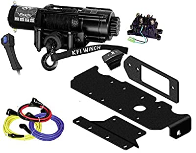 KFI Combo Kit - SE45w-R2 4500lbs Wide Stealth Winch, Mount Bracket, Wiring, Switches, Remote Kit - compatible with 2016-2018 Honda Pioneer SXS 1000, 1000-5