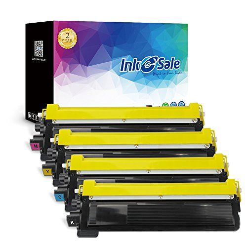 INK E-SALE Compatible Toner Cartridge Replacement for Brother TN210 K C M Y Color Set, Use for Brother HL-3040CN Hl-3045Cn Hl-3070Cw Hl-3075Cw MFC-9010CN Mfc-9120CN Mfc-9125CN Mfc-9320Cw Mfc-9325Cw