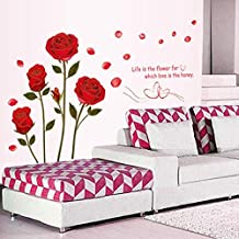 Red Rose Wall Sticker Mural Decal Diy Home Living Room Art Decor Diy Romantic Delightful