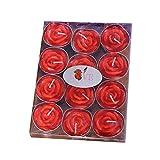 Depory 12 x Kerzen Teelichter Kerzen rauchfrei Duftkerze Rosenform für Vorschlag Hochzeit Jahrestag Valentinstag Zuhause Duft Kreieren romantische und entspannende Atmosphäre