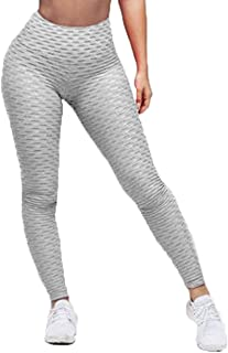 Dawwoti Active Tights for Women Slimming Yoga Tights 4 Way Stretch Running Pants