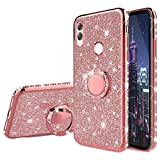 HMTECH Compatible with Huawei Honor 10 Lite Case Glitter
