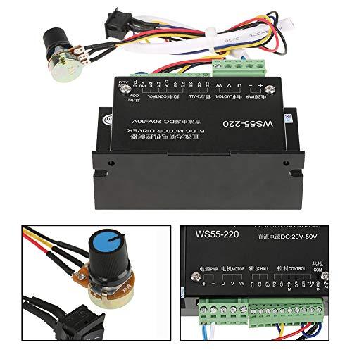 Motor Driver Controller mit Kabel, WS55-220 DC 48 V 500 W BLDC controller, bürstenlose CNC-Spindel BLDC Motor Driver Controller