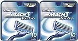 Gillette MACH3 Turbo Refill Cartridges-10 ct, 2 pk