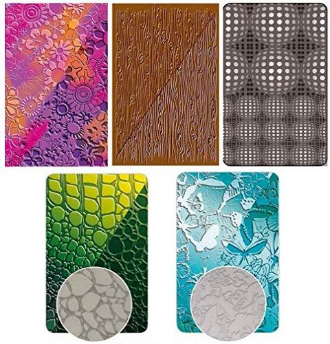 Set mit 5 Texturplatten für Fimo und Handarbeiten